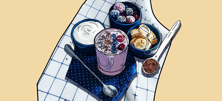 Greek Yogurt with Berries, Seeds and Nuts