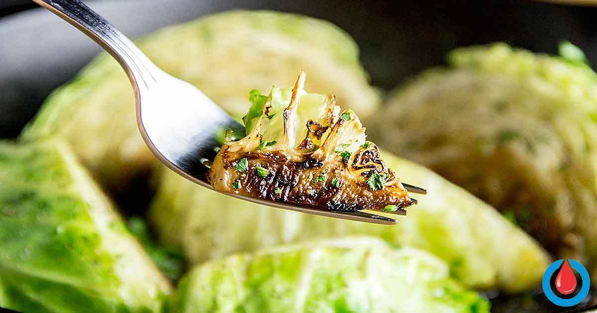 Creative Dish Idea - Roasted Cabbage Wedges with Caraway and Orange