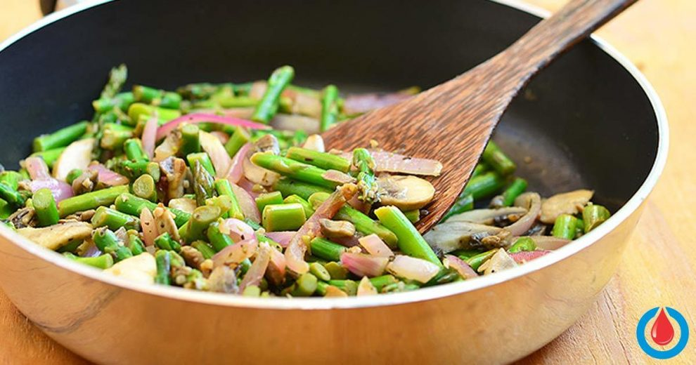 How to Make Sautéed Peppers, Mushrooms, and Asparagus
