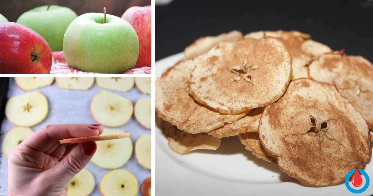 Cinnamon Apple Chips - Delicious Snack That Doesn't Affect Blood Sugar and Weight