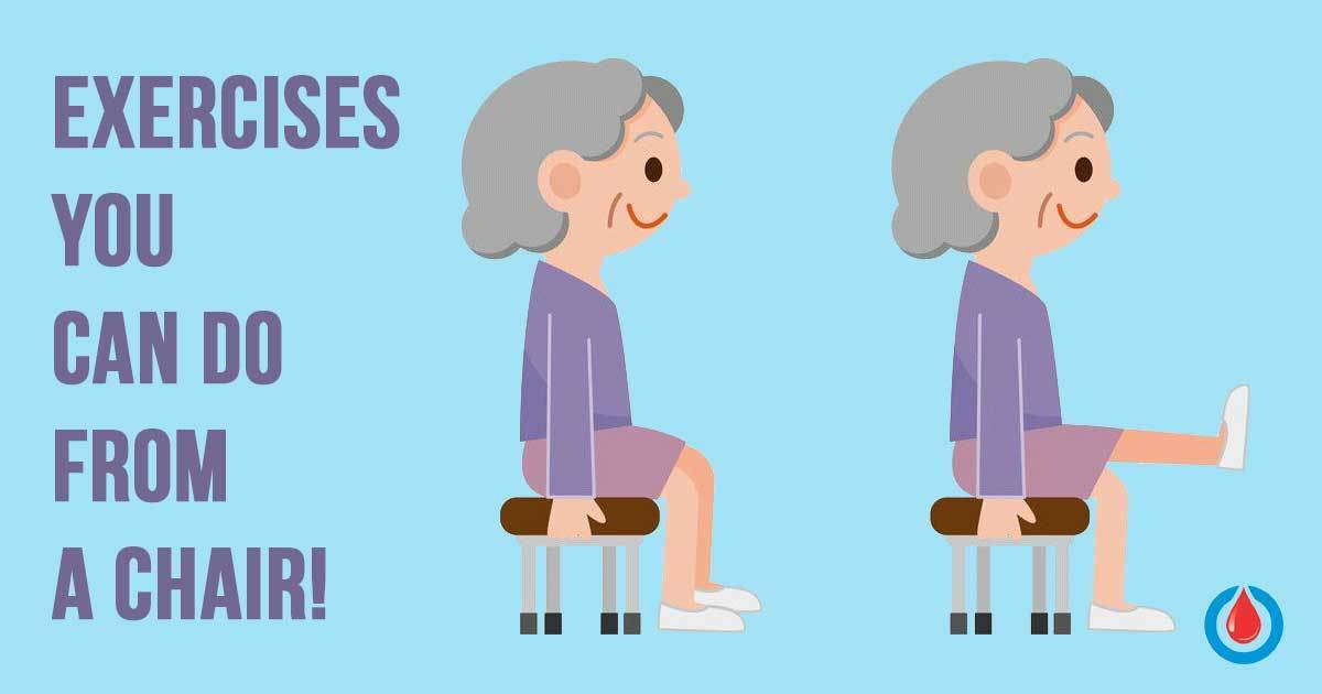 5 Chair Exercises Which Improve Circulation and Control Blood Glucose